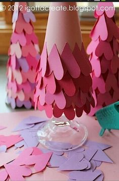 Valentines day heart trees!