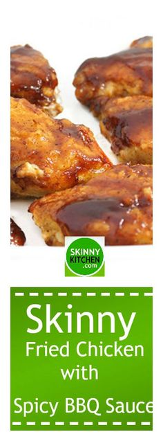Skinny Fried Chicken with Spicy BBQ Sauce Low Calorie Recipes, Ww Recipes, Light Recipes, Dinner Recipes, Cooking Recipes, Healthy Recipes, Weight Watchers Chicken, Weight Watchers Meals, Slimming Recipes