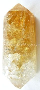 The Citrine properties that are most well known are its value for aiding manifestation of prosperity, particularly if you combine it with the power of affirmations.  By its ability to activate the solar plexus, the seat of the will, it will help you to be decisive about what you will bring into your life.