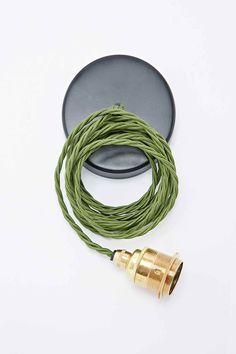 Nook London Edison Pendant Set in Brass and Green