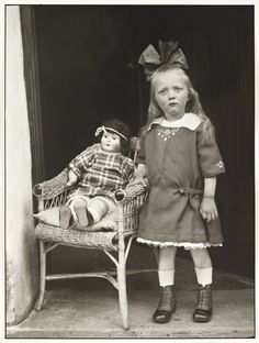 'Girl with her Doll in a Chair', c. 1927-30.  August Sander | Tate