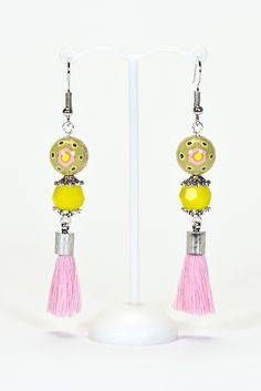 Boucles d'oreilles aux couleurs printanières #gadhorre #jewelry