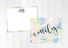 Custom Stationary Gift Set | Custom Stationery Bundle | Floral Note Cards | Folded Note Card | Personalized Thank You Cards  | Hand Drawn by elouisedesigns on Etsy