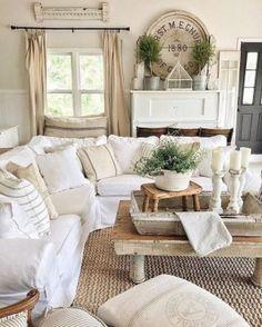 23 cozy farmhouse living room makeover decor ideas