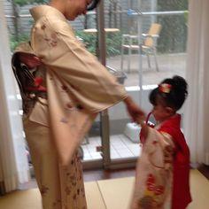 #お祝い#3歳七五三#親子#和服姿