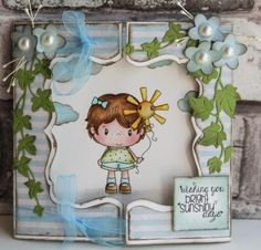 Scrapbookdepot - C.C. Designs Clear Stamp Little Pixies Sunshine - CCDLP2 - C.C. Designs - Afbeeldingen