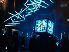 QR code cube head
