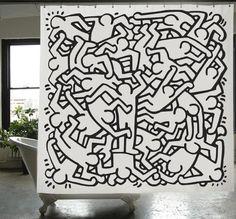 Keith Haring Shower Curtain   Izola