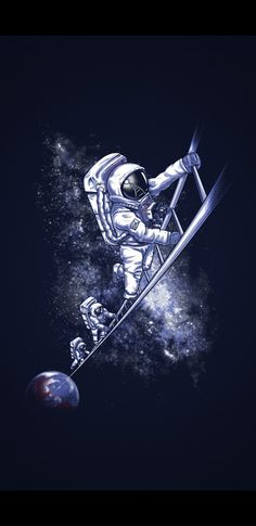 Ladder Space & Astronaut Pictures 720 X 1280 Cele. Space Artwork, Space Drawings, Wallpaper Space, Galaxy Wallpaper, Wallpaper Backgrounds, Wallpaper Gratis, Wallpaper Pictures, Astronaut Wallpaper, Space Illustration