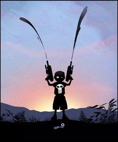 """Punisher"" When I Grow Up I Wanna Be... Super Cute Villain and Hero Geek Art - News - GeekTyrant"
