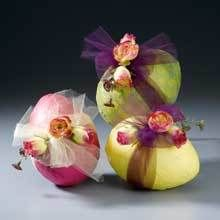 Tissue and Tulle Easter Eggs | FaveCrafts.com