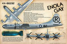 "Boeing B29 ""Superfortress"" Enola Gay Enola Gay, Atomic Age, Big Daddy, Nose Art, Hiroshima, Military Aircraft, World War Two, Airplanes, Ww2"