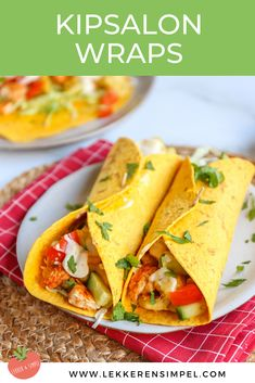 Kipsalon wrap - In 30 minuten op tafel - Lekker en Simpel ilovefood Nachos In Oven, I Love Food, Good Food, Lunch Wraps, Tacos And Burritos, Go For It, Backpacking Food, Pasta, Easy Healthy Recipes