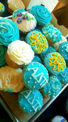 Cupcake decoration ideas for ADPi's!