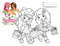 Free Coloring Pages Of All Strawberry Shortcake
