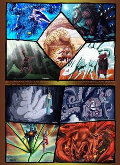 naruto - all 9 of the tail beast. Awesome!