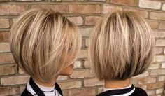 Ashley Vaughan has razor cut a fellow stylists hai. Ashley Vaughan has razor cut a fellow stylists hair into this fabulous bob, Brittany's new angledbob and textured layers fits right in with… Short Bob Hairstyles, Hairstyles Haircuts, Cool Hairstyles, Summer Hairstyles, Hairstyle Ideas, Hairstyle Short, Casual Hairstyles, Everyday Hairstyles, Headband Hairstyles