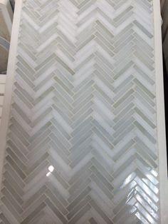 Backsplash - Artistic Tile Hip Herringbone in Be Bop White - kitchen and bar backsplash