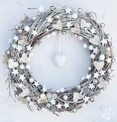 White Christmas Door Wreath Winter by botanicbotanic on Etsy, $35.00