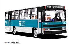 Will.Bus: Caio Amélia / Mercedes-Benz OF 1314 - (SP) Transporte Urbano Campinas (Década de 80)