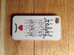 Truely madly deeply Lyric iPhone 4/4s Case $15.00