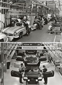 Old Vintage Pictures Mercedes Car Factory Old
