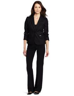 Calvin Klein Women's 1 Button Colored Jacket, Black, 2 Calvin Klein http://www.amazon.com/dp/B0096IY1HA/ref=cm_sw_r_pi_dp_Rxs4tb125T37S