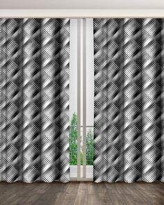 Empty room interior background, white brick wall, glass vase with branch rendering Vase With Branches, White Brick Walls, Empty Room, 3d Rendering, Room Interior, Glass Vase, Curtains, Home Decor, Room Decor