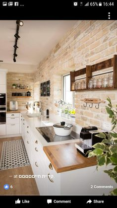 11 Simple Home Decoration Ideas for Your Kitchen More ideas: DIY Rustic Kitchen Decor Accessories Marble Kitchen Accessories Ideas Farmhouse Kitchen Storage Accessories Modern Kitchen Photography Accessories Cute Copper Kitchen Gadgets Accessories Contemporary Kitchen Interior, Interior Design Kitchen, Kitchen Wall Design, Brick Interior, Country House Interior, Small Kitchen Designs, Farmhouse Contemporary, Simple Kitchen Design, Country House Design