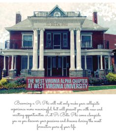 West Virginia Alpha! <3 the greatest place I ever lived & greatest time of my life!!! #wvu #wvalpha #pibetaphi