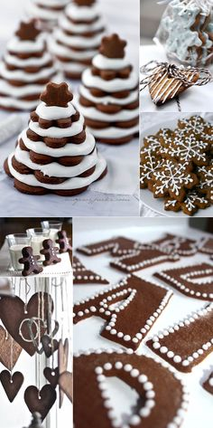 decorate with ginger bread cakes