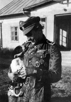 Nazi soldiers with animals: they weren't all bad, most were good people who did things because they were scared