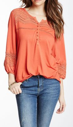 Crochet Accented Blouse