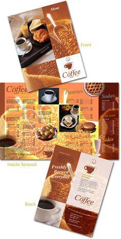 Free coffee shop menu InDesign template