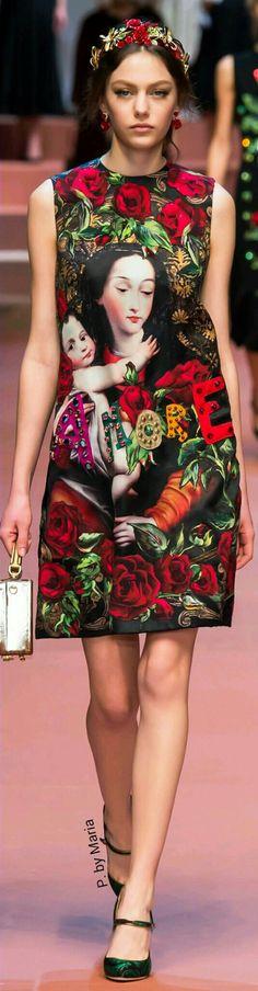 Dolce & Gabbana Fall Winter 2015~16 Ready-To-Wear