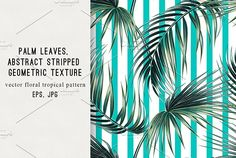 Palm leaves abstract pattern by Tropicana on @creativemarket