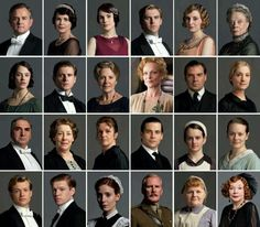 The characters upstairs and downstairs in DOWNTON ABBEY (Carnival 5 seasons, 2010-2014). Stars: Hugh Bonneville, Maggie Smith, Elizabeth McGovern, Penelope Wilton, Jessica Brown Findlay, Laura Carmichael, Jim Carter, Brendan Coyle, Michelle Dockery, Siobhan Finneran, Joanne Froggatt, Thomas Howes, Rob James-Collier, Rose Leslie, Phyllis Logan, Sophie McShera, Lesley Nicol, Dan Stevens, Iain Glen