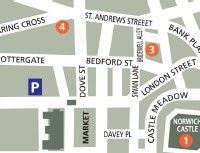 Strangers' Hall Map Norwich Norfolk, London Street, England, English, British, United Kingdom