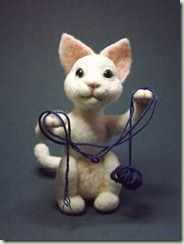 Thank you for the tutorial! Repinned. how to needlefelt this kitty MyTopTeddy tutorial :D