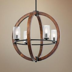 """Kichler Grand Bank 20"""" Wide 4-Light Auburn Stained Pendant Style # 2F638  Write a Review This transitional style Kichler pendant light wil..."""