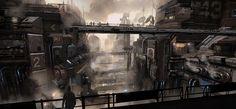 """Star Citizen: Arccorp View"" by #NicolasFerrand.  #sciencefiction #scifi"