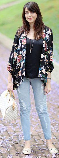 4 jeitos de usar: Quimono floral | Just Lia