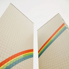 pinned not so much for the architecture...but more for the fabulous rainbows