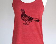 Bird 31 Pigeon Shirt  Soft Tri-Blend Racerback Tank