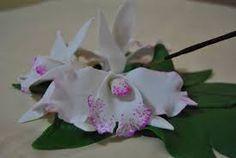 Resultado de imagen para como hacer orquideas en ceramica al frio