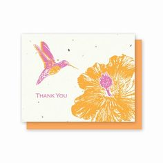 thank you cards - plantable seed paper