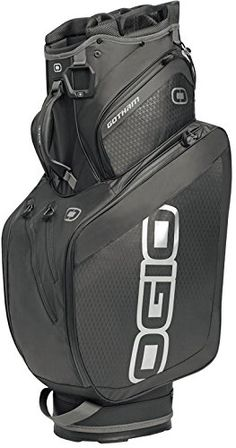 Featuring a 15 way traditional top with putter pit for oversized grip these mens Gotham golf cart bags by Ogio also come with a water bottle holder