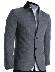 1d7ede5469d8 FLATSEVEN Mens Slim Fit Winter Wool Blends Jacket Herringbone   Amazon.co.uk  Clothing