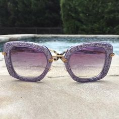 Summer: Now available in sparkle vision. // Make these Miu Miu sunnies yours when you shop on Poshmark