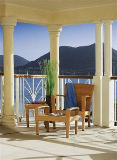 The balcony at The Landings St. Lucia  a luxury Caribbean resort.